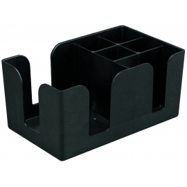 BAR CADDY, BLACK PLASTIC FOR NAPKINS, STRAWS, ETC. (EACH)
