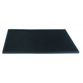 "RUBBER SERVICE MAT, 12"" W X 18"" L, BLACK (EACH)"