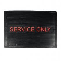 """MAT, """"""""SERVICE ONLY"""""""" 12 X 18 BL"""