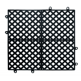 "12"" X 12"" BLACK INTERLOCKING BAR MATTING (EACH)"