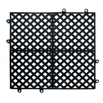SHELF MESH, 1' SQUARE BLACK IN