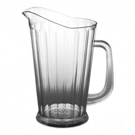 PITHCHER, 60 OZ,  CLEAR FLARE