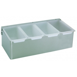 4 PINT STAINLESS STEEL CONDIMENT TRAY (EACH)