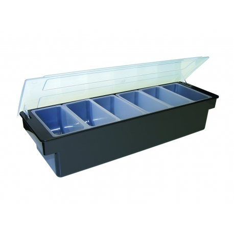 CONDIMENT TRAY, 6 PINT, BLACK,