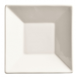 "WTI SAUCER, 5"" SQUARE, ULTRA BRIGHT WHITE, SLATE, MED. RIM - 36 PER CASE"