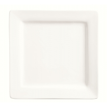 PLATE, 9 SQUARE, BRIGHT WHITE