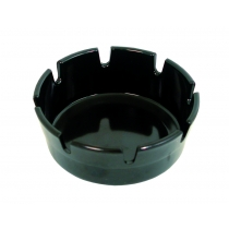 ASHTRAY, PLASTIC, 4 BLACK, RO