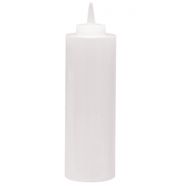 24 OZ CLEAR SQUEEZE BOTTLE WITH CAP (6)