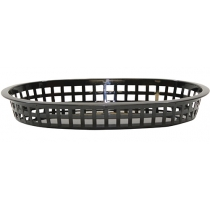 BASKET, OVAL, BLACK, 10.5 X 7
