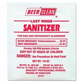 DIVERSEY BEER CLEAN SANITIZER, FOR GLASSWARE, 90223 (100/PKS)