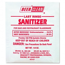 SANITIZER, BEER CLEAN, FOR GLA