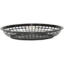 BASKET, OVAL, BLACK, JUMBO, 11