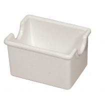 SUGAR CADDY, PLASTIC, WHITE, H