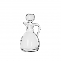 CRUET, 6 OZ, GLASS W/STOPPER,