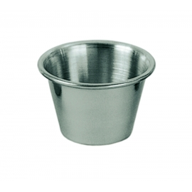 OYSTER / SAUCE CUP, 2.5 OZ, STAINLESS STEEL - 12 PER BOX