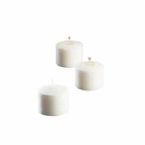 CANDLE, VOTIVE, 10 HOUR, WHITE