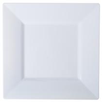 PLATE, PLASTIC, WHITE, 6.5 SQ