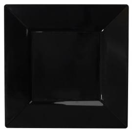"FINELINE 10.75"" SQUARE BLACK PLASTIC PLATE, 1610-BK (120)"