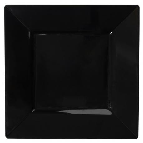 PLATE, PLASTIC, BLACK, 10.75