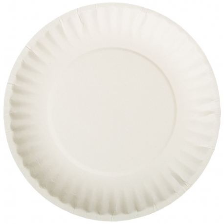 """PLATE, PAPER, 9"""""""" WHITE UNCOATE"""