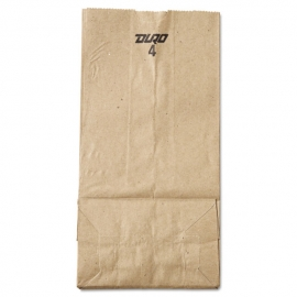 "DURO PAPER BAG, 4 LB, KRAFT, 5"" X 3-1/3"" X 9-3/4"" - 500 PER PACK"