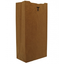 "DURO PAPER BAG, 8 LB, KRAFT, 6-1/8"" X 4-1/6"" X 12-7/16"" - 500 PER PACK"