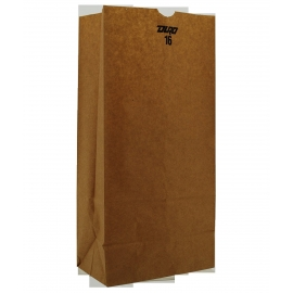 "DURO PAPER BAG, 16 LB KRAFT, 7-3/4"" X 4-13/16"" X 16"" - 500 PER PACK"