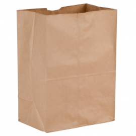 "DURO PAPER BAG, 1/8 BARREL SACK, KRAFT, 10.5"" X 6.5"" X 14.25"" - 500 PER PACK"