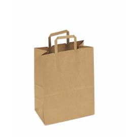"DURO PAPER BAG, KRAFT, HANDLED, ""THANK YOU"" PRINT, 12"" X 7"" X 17"" - 300 PER PACK"