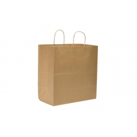"DURO PAPER BAG, HANDLED, KRAFT, 14"" X 10"" X 15.75"" - 200 PER CASE"