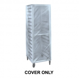 "BUN PAN RACK COVER 26"" X 26"" X 80"", HIGH DENSITY PLASTIC - 50 PER BOX"