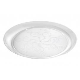 "FINELINE 9"" CLEAR PLASTIC ETCHED PLATE, SAVVI SERVE 309 (240)"