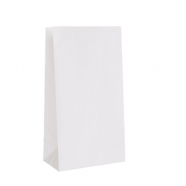 "DURO PAPER BAG, 3 LB, WHITE, 4-3/4"" X 2-15/16"" X 8-9/16"" - 500 PER PACK"