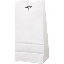 "DURO PAPER BAG, 4 LB, WHITE, 5"" X 3-1/3"" X 9-3/4"" - 500 PER PACK"