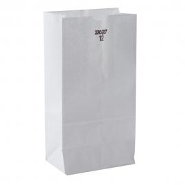 "DURO PAPER BAG, 12 LB, WHITE, 7-1/16"" X 4-1/2"" X 13-3/4"" - 500 PER PACK"