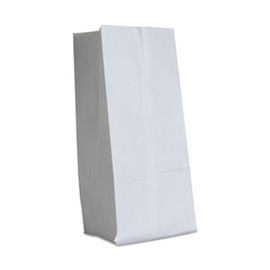 "DURO PAPER BAG, 16 LB, WHITE,  7-3/4"" X 4-13/16"" X 16"" - 500 PER PACK"