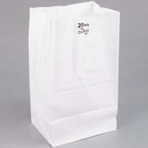 "BAG, PAPER, 20 WHITE, 8-1/4"""""