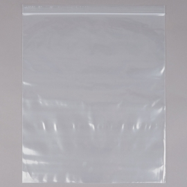 "ELARA ZIP CLOSURE PLASTIC STORAGE BAG, 2 GALLON, 13"" X 15"" - 100 PER BOX"