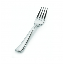 FINELINE SILVER FORK, HEAVY WEIGHT PLASTIC, SILVER SECRETS, 703 (600)