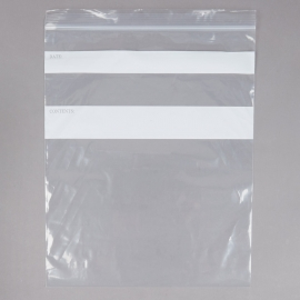 "ELARA ZIP CLOSURE PLASTIC STORAGE BAG, 1 GALLON, 10.6"" X 11"" - 250 PER BOX"