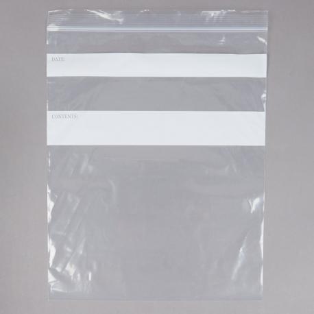 BAG, PLASTIC, GAL, ZIP CLOSURE