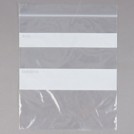 "ELARA ZIP CLOSURE PLASTIC STORAGE BAGS, 1 QUART, 7"" X 8"" - 500 PER BOX"