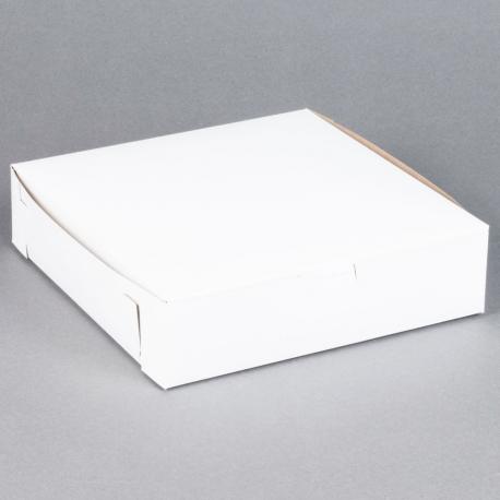 BAKERY BOX, 10 X 10 X 2.5 WHIT
