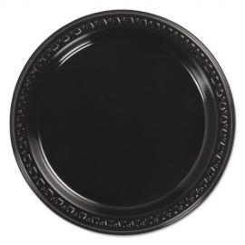 """CHINET 7"""" BLACK PLASTIC PLATE, 81407 (1000) AAAAA"""