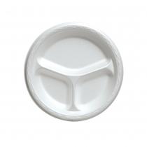 PLATE, FOAM, WHITE, 9 3/C,