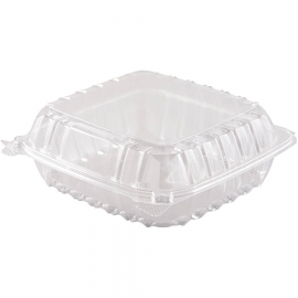 "DART 9"" CLEARSEAL CLEAR PLASTIC HINGED LID CONTAINER, C90PST1, (500)"