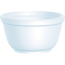 DART 10B20, 10 OZ  WHITE FOAM BOWL, (1000) USE ANY SIZE 20 LID