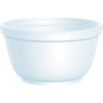 BOWL, FOAM, WHITE, 10 OZ, 10B2