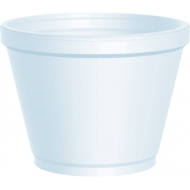 DART 12SJ20, 12 OZ WHITE FOAM CONTAINER, (500) USE ANY SIZE 20 LID
