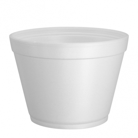 CONTAINER, FOAM, WHITE, 16 OZ,